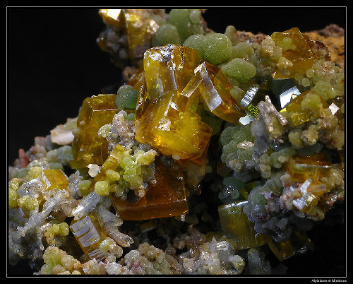 Cristaux et Géométrie cristalline Wulfenite