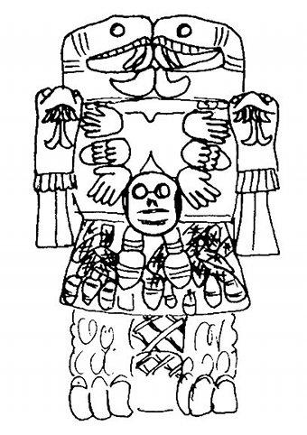 Accouchement sang menstruel et les racines du chamanisme - Dessin azteque ...