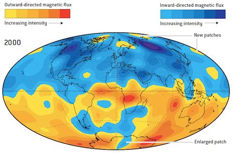 carte du magnétisme terrestre